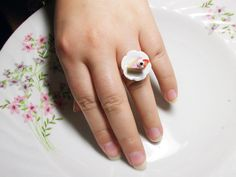 cake with strawberry ring by rabbitsillusions on Etsy, €5.00