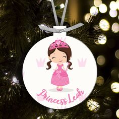 Christmas Ornament Princess Personalized Ornament Personalized Ornaments Personalized Gifts Ornaments Design Perfect