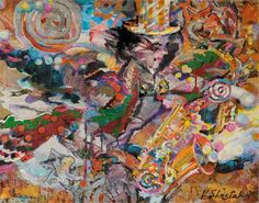 Artwork >> Vladimir Shestakov >> Jazz Fantasy. Golden Saxophone
