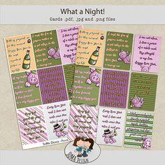 SoMa Design: What a Night? Journal Cards, Digital Scrapbooking, Journaling, Bullet Journal, Kit, Color, Design, Style, Swag