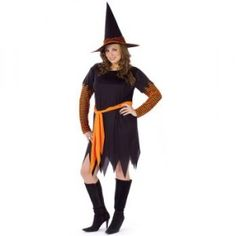 Pumpkin Witch Costume - Halloween Plus Size Costumes For Women