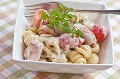 Pikku Prinssin nakkipasta Pasta Salad, Real Food Recipes, Ethnic Recipes, Crab Pasta Salad, Healthy Food Recipes