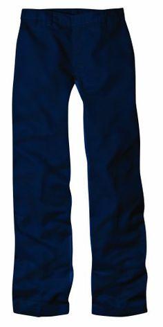 Dickies Big Girls'  Flat Front Pant - School Uniform,Dark Navy,8 Regular by DickiesTake for me to see Dickies Big Girls'