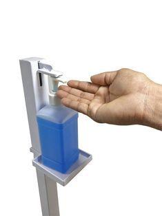 Soporte dispensador de desinfectante de manos   Etsy Alcohol En Gel, Hand Sanitizer Dispenser, Drinking Fountain, House Of Beauty, Bottle Holders, Gadgets, Hands, Cleaning, Etsy