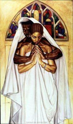 Black art prints & African American Art & Gifts Wak - Pray together, Stay Together - Open edition print Paper: 37 x 22 Image: 37 x 22 Black Love Art, Black Girl Art, Art Girl, Pretty Black, Black Girls, Arte Black, Black Art Pictures, Black Artwork, Afro Art