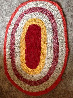 Crochet Rag Rug by BIZEbeez on Etsy, $50.00..made by Linda