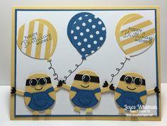 Minion Birthday Cardf.  (Pin#1: Children: General.  Pin+: Balloons; Punch Art…