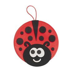 Paper Plate Ladybug - We could easily make these for decorations