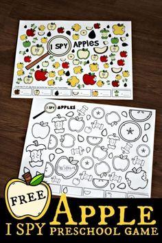 Apple Activities Kindergarten, Preschool Apple Theme, Preschool Games, Autumn Activities For Kids, Fall Preschool, Preschool Activities, Apple Crafts For Preschoolers, Apple Theme Classroom, Elderly Activities