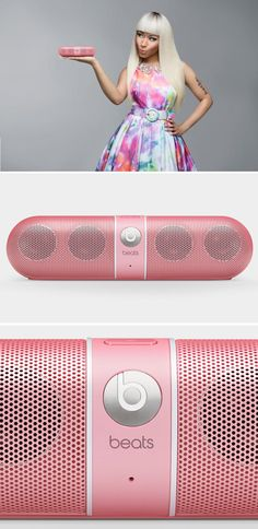 Beats By Dre Pink Pill x Nicki Minaj....I want this!!