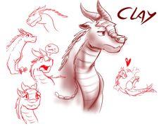 Sketches - Clay (WoF) by StarWarriors on DeviantArt