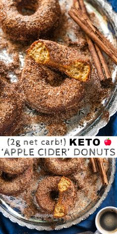 Satisfy your sweet tooth while on the keto diet with donuts! These 35 low carb keto donut recipes are the best of the best and they're so easy to make. Low Carb Doughnuts, Low Carb Donut, Paleo Donut, Keto Donuts, Low Carb Keto, Donuts Donuts, Baked Donuts, Baked Apple Dessert, Apple Dessert Recipes