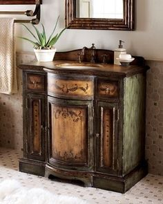 Very nice vanity. Could be for a small bathroom .will make a great statement!!