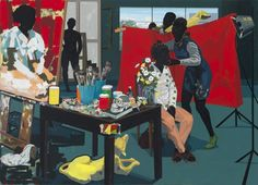Tableaux sur toile, reproduction de Kerry James Marshall, Untitled - Studio -2014