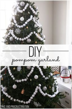 If you're looking for a fun, easy, and adorable Christmas craft tutorial, look no further. This pom pom garland is so easy to make, and it looks great on the tree. Itis the perfect festive Christmas craft. It makes my tree look so happy and unique!And it's a super easy DIY. So much cuteness from so little effort! It makes such great Christmas tree decor.