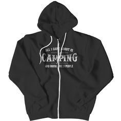 Funny Camping Zipper Hoodie