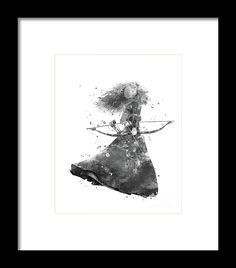 #disney #merida #walldecor #disneyprincess #watercolor