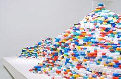 plastic bottle cap art by satoshi hirose