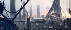 City at dawn by FlorentLlamas.deviantart.com on @DeviantArt