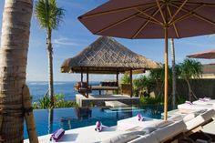 Luxury 3 bedrooms beachfront villa in Bali - Bale and pool loungers in Anapuri Villas Bali at Birdestory.com  click here for more inspiration --> http://bridestory.com/anapuri-villas-bali#/projects/23154  #wedding #weddings #weddingidea #weddinginspiration #bridestory #weddingvenue