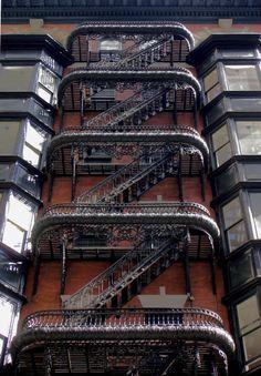 Most beautifull fire escape - 13th St. near Chestnut, Philadelphia