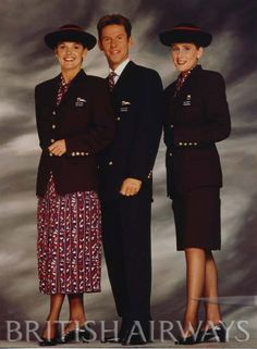 British Airways - photographs 1990 - 2007.  I loved this old unirorm, the dresses had yards of material, wash them and they would drive in seconds, literally! The winter uniform I enjoyed as well, shirts as well would dry in seconds. KMW