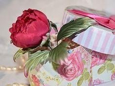 Делаем символ любви и богатства — пион цвета марсала из шелка - Ярмарка Мастеров - ручная работа, handmade