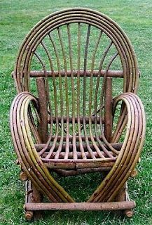 A beautiful bent Willow chair offered by Wilderness Creations. This is the classic look of bent Willow furniture, hand crafted in the USA