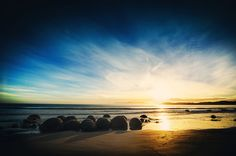 Desktop Wallpapers Beach Sea Nature Sky sunrise and sunset stone New Zealand Landscape, Hdr Photography, Photography Portfolio, Amazing Photography, Beach Rocks, Sunset Sky, Sky And Clouds, Nature Images, Photo Location