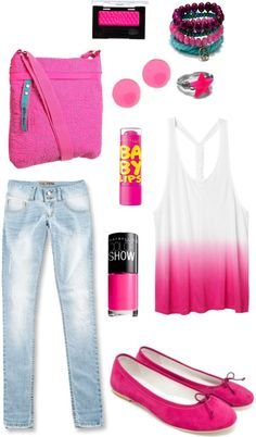 """""""Bubble Gum Inspired"""" by metrobasics ❤ liked on Polyvore"""