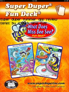 """What Does Miss Bee See?"" App!  -  Pinned by @PediaStaff – Please Visit http://ht.ly/63sNt for all our pediatric therapy pins"