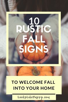 10 Rustic Fall Signs