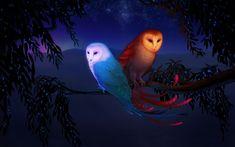 Fantasy - Two Owls Fantasy Art - Free Desktop Wallpapers