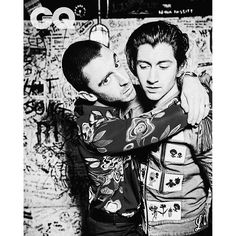 alturners/2016/09/15 18:04:18/@thelastshadowpuppets for @britishgq | @gq April 2016 Miles wears shirt by MSGM, £320. At Harvey Nichols. harveynichols.com. Trousers by Roberto Cavalli, £345. robertocavalli.com. Alex wears jacket by Gucci, £2,960. gucci.com. Trousers by Pal Zileri, £1,150. palzileri.com. Jewellery, Miles and Alex's own