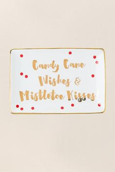 Candy Cane Wishes Trinket Tray