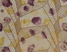 """""""White,"""" a printed, Vanessa Bell-attributed furnishing linen from the Courtald Gallery's 2009 exhibition, Beyond Bloomsbury: Designs of the Omega Workshops 1913–19."""