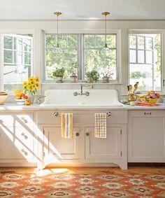 90 pretty farmhouse kitchen cabinet design ideas (84)