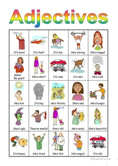 Adjectives Bingo set - English ESL Powerpoints for distance learning and physical classrooms English Adjectives, English Vocabulary, Bingo Set, Teaching Jobs, Bingo Cards, Reading Skills, Esl, Phonics, Elementary Schools