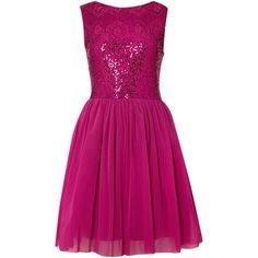 Therapy Sequin tulle skater dress ($77) ❤ liked on Polyvore