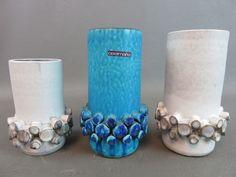 3x Modernist Keramikvase Ceralux 103 Hans Welling für Ceramano