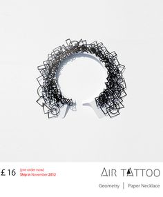 Air Tattoo. Paper Necklace by Logical Art