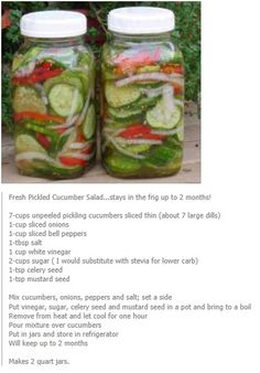 Fresh Pickled Cucumber Salad