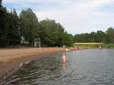 The beach of Hanikka (Espoo, Finland).