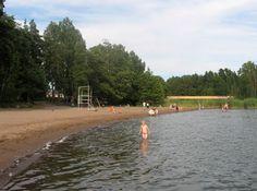 The beach of Hanikka (Espoo, Finland).