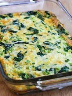 Spinach and Mozzarella Egg Bake More