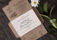 Letterpress wedding invitations by Paper Elephant www.paperelephant.com.au #letterpress #wedding #invitations