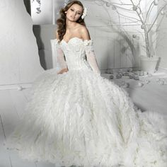 2012 Princess White One-shoulder Stapless Vintage Wedding Dress IWD0122