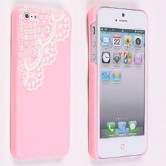 Amazon.com: Pretty Pink Pearl Lace Ice Cream Hard Back Case Cover for Apple iPhone 5: Cell Phones & Accessories