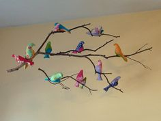 These birds are so delightful. I can't wait to make some of my own to brighten up my house.