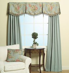 valance pattern to make M5286 Kitchen Window Treatments, Custom Window Treatments, Curtains With Blinds, Valance Curtains, Window Valances, Drapery Panels, Valance Patterns, Sewing Patterns, Drapery Designs